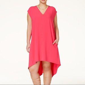 Rachel Roy Shift Dress Pleat Back XL Sleeveless D
